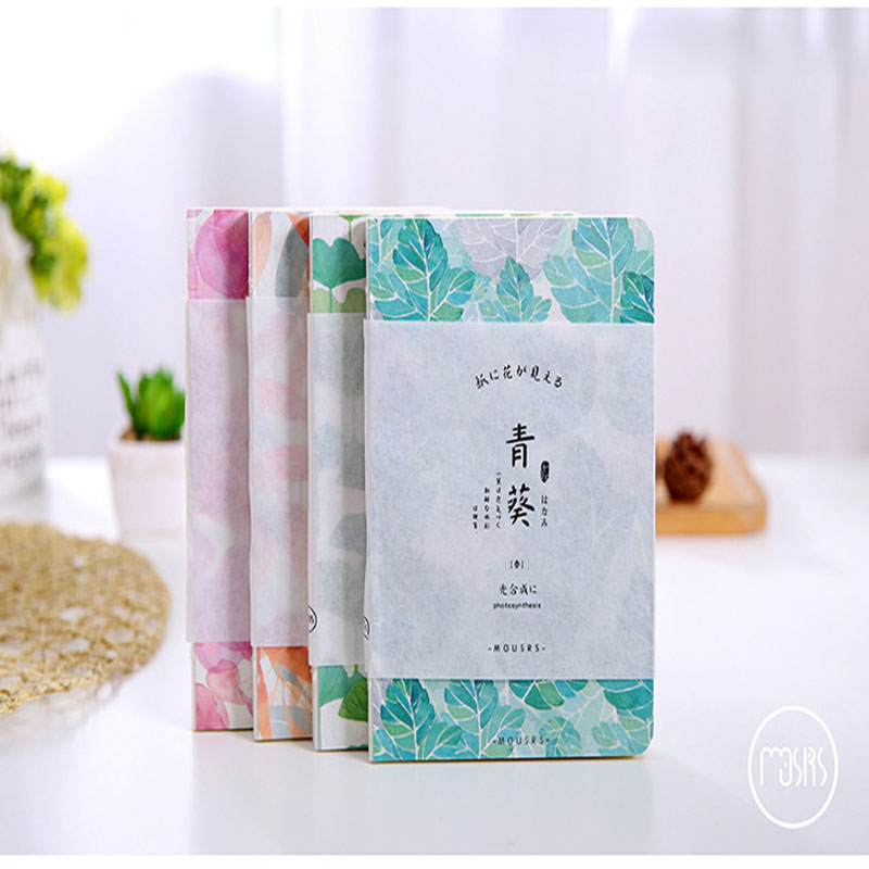 Beautiful Noctilucan Notebook Hand Drawing Plants Composition Book Stitching Binding Accounts Recording Financing Soft Copybook