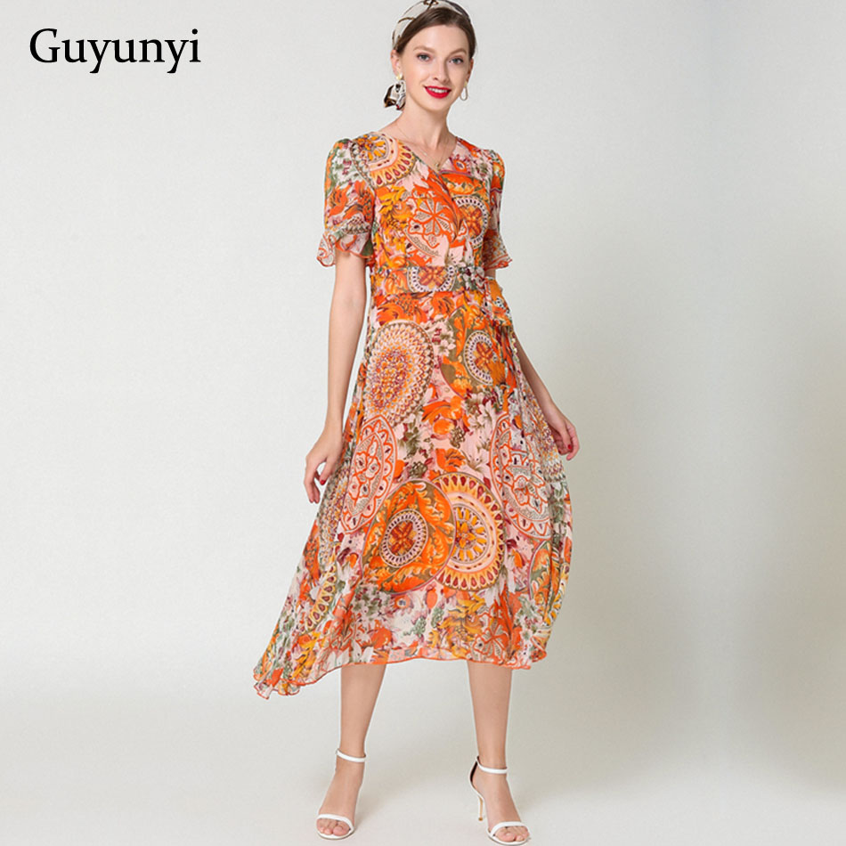 cec81f5b Vestido bohemio estilo étnico Vintage 2019 verano cómodo ajustado ajuste  elegancia temperamento ...