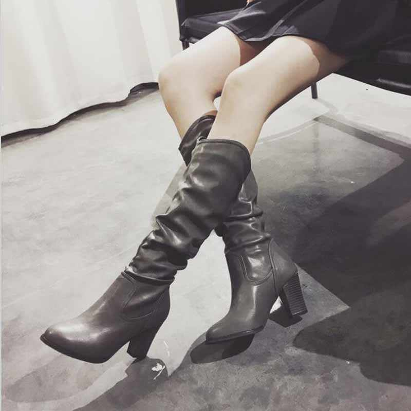1fb674659208 Thigh High Flat Boots Women Over the Knee Boots Comfort Fall Winter Faux Suede  Boots Fashion
