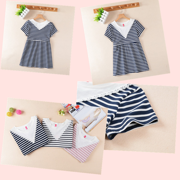 Summer pregnant women's clothing striped short-sleeve breastfeeding T-shirt top maternity dress women's casual T-shirt top