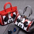 2017 Limited Women Sale Single Cell Phone Pocket Cover Shoulder Bags New Big Handbag Bag Mickey Sequin Platinum Ladies Satchel