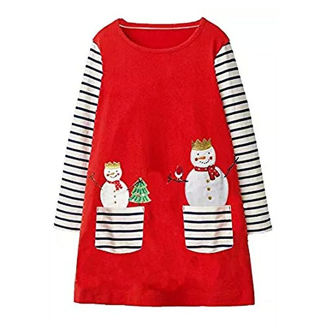 3a365822b2 Christmas Dress Baby Girls Clothes Autumn 2018 Girl Dress with Animal  Applique Children Vestidos Kids Dresses Princess Costume