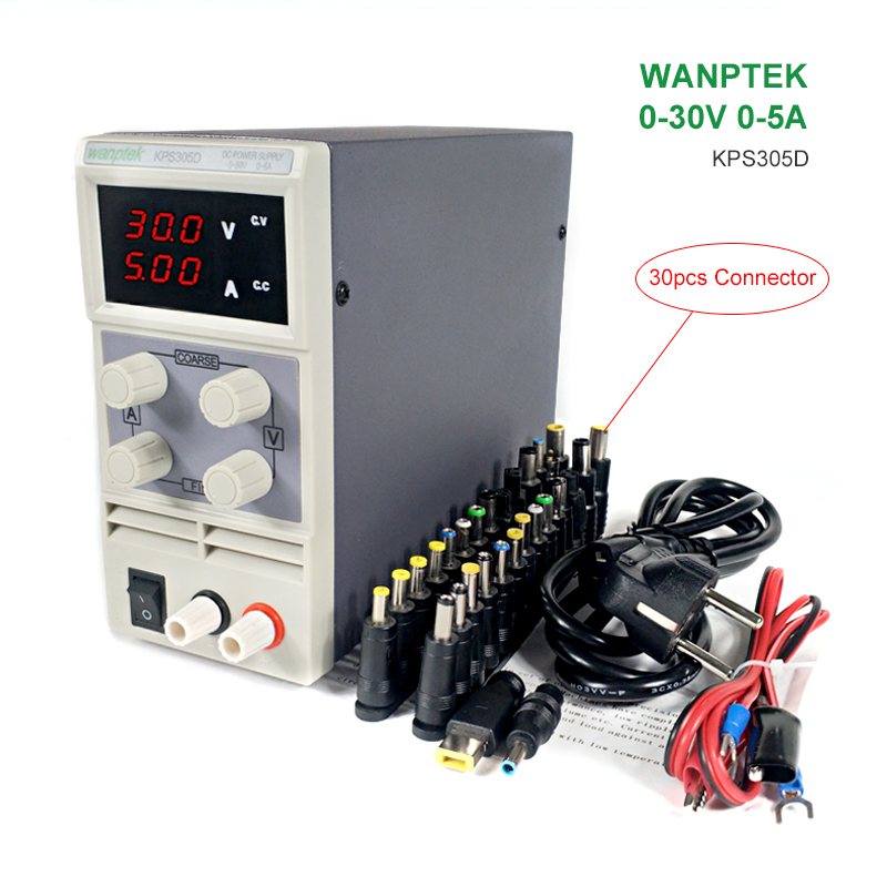 KPS305D DC Power Supply Adjustable Digital High Precision DC Power Supply LED Protection 30V 5A Regulator Switch DC Power Supply 1200w wanptek kps3040d high precision adjustable display dc power supply 0 30v 0 40a high power switching power supply