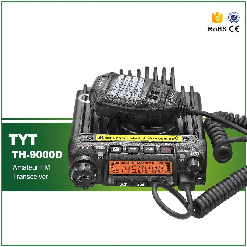 NEW TYT TH-9000D Walkie Talkie VHF 136-174MHz 60W 200CH DTMF 8 Group's Scrambler Mobile Radio TH 9000D Car Radio