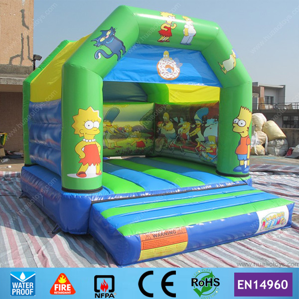 Commercial 12 10ft Cartoon Inflatable font b Bouncer b font with Raincover on Top for sale
