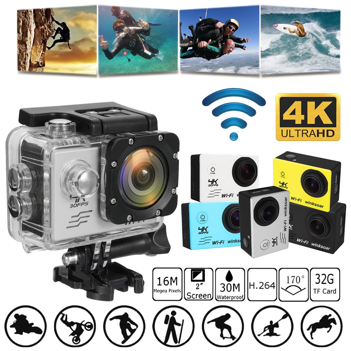 SJ8000 2.0 Pouce Ultra HD 4 K 1080 P Wifi Sport Action Caméra DV 170 Degrés Grand Angle 30 M Étanche Caméscope avec Télécommande