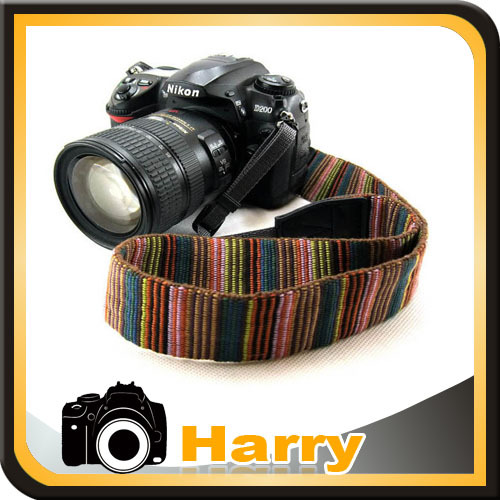 New Universal Color Stripes Soft red Camera Neck Straps Shoulder Strap Belt Grip For DSLR Camera