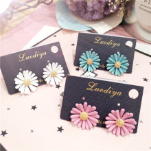 Korea Handmade Acrylic Cartoon Daisy Women Stud Earrings Fashion Jewelry Accessories-JQD5