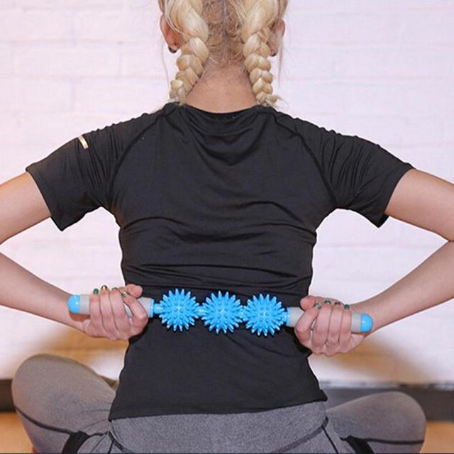 NEW Massager Stick Hedgehog Balls Muscle Roller Anti Cellulite Massager Trigger Point Stick Cellulite Slimming Massage Stick 3