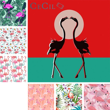 Flamingo tapestry Wall hanging cloth INS background decoration room bed Nordic style flannel support custom