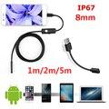 Эндоскоп 8 мм/1/2 М HD USB эндоскоп с 6 светодиодами мягкий кабель водонепроницаемый осмотр бороскоп для Android ПК
