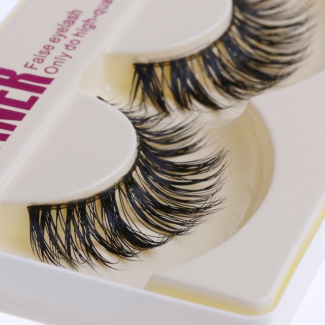 1 Pair New Mink Hair Natural Long Thick False Fake Eyelashes Eye Lashes Makeup Extension Beauty Tool 4