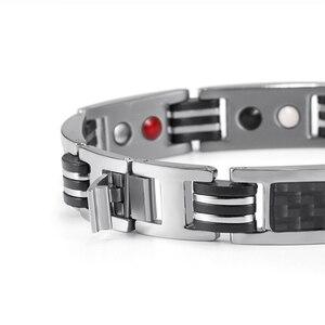 Image 3 - Rainso Chain Bracelets Men Jewelry Energy Magnetic Health Bracelet  Brazil Style Couples Black Titanium Bracelets Handmade