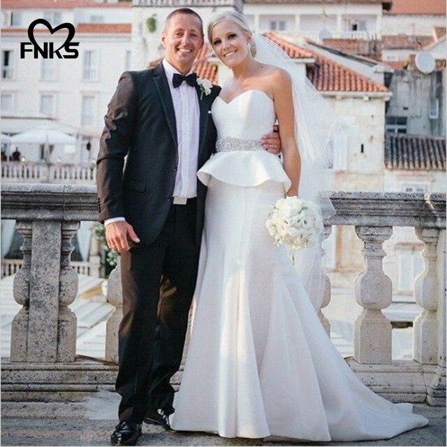 vestido de novia simple peplum wedding dresses sweetheart wedding