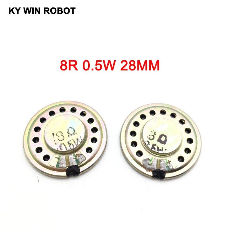 5pcs/lot New Ultra-thin Mini Speaker 8 Ohms 0.5 Watt 0.5W 8R Speaker Diameter 28MM 2.8CM Thickness 5MM