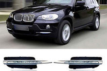Fog light Daytime Running Light DRL LED Day Light for BMW X5 E70 2007 - 2010 12w per set high power car led daytime running light for bmw e70 x5 suv 2007 2009 led drl day light 12v waterproof drl kits