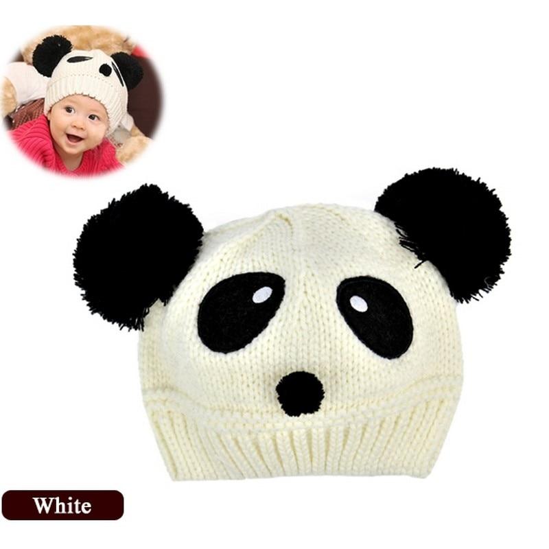 Baby Kids Boys Girl Winter Panda Pattern Warm Beanies Cap Crochet