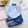 Children's Clothing Set  Autumn 2017 New Arrival Toddler Kids Boys Clothes Cotton Gentleman Tie 2pcs Shirt Pants 4 Colors T2909