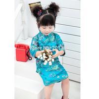 Enfants Qipao Filles Robe Cheongsams Fleur Traditionnelle Chinoise Festival Du Nouvel An Enfants Vêtements Vente Chaude