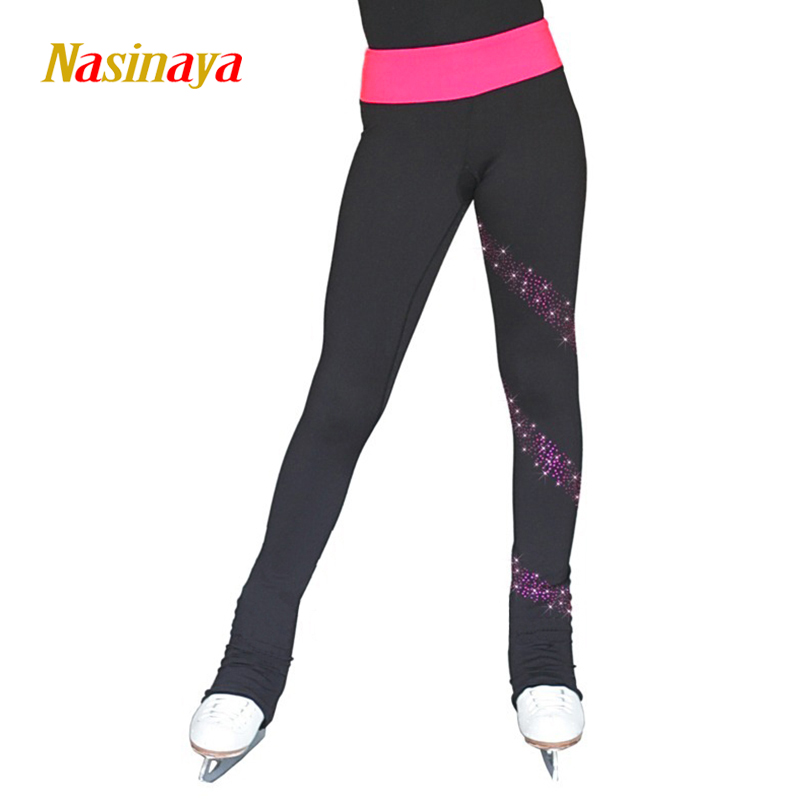 Customized Figure Skating Pants Long Trousers For Girl Women Training Competition Patinaje Ice Skating Warm Fleece Gymnastics 27