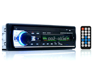 12V Bluetooth Car Stereo FM Radio MP3 Audio Player 5V Charger USB/SD/AUX/APE/FLAC Car Electronics Subwoofer In-Dash 1 DIN
