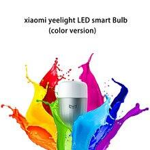 Original para xiaomi mi yeelight multi color led de la lámpara inteligente Brillo Ajustable de Control remoto Bombilla 16 Millones de RGB Mi LED bombilla