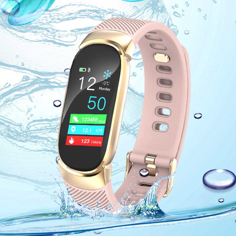 BINSSAW חכם Uhr גברות IP67 Wasserdichte Uhr הרץ קצב שלאף צג Informationen Rufen Erinnerung חכם ספורט Uhr