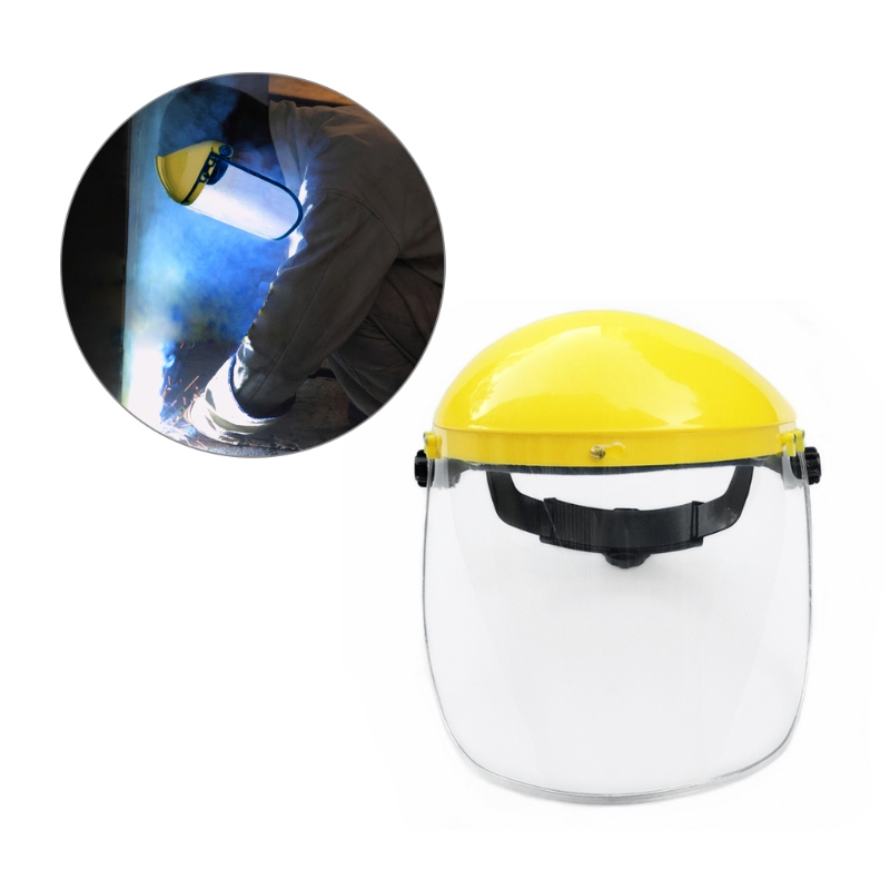 Safety Face Shield >> Us 6 64 16 Off Clear Full Face Shield Safety Visor Mask For Automotive Construction In Safety Helmet From Security Protection On Aliexpress Com