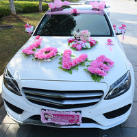 10PCS Artificial Flowers for Wedding Car Big Love Shape Wedding Car Flowers Fake Flower for Wedding Decoration without Bears