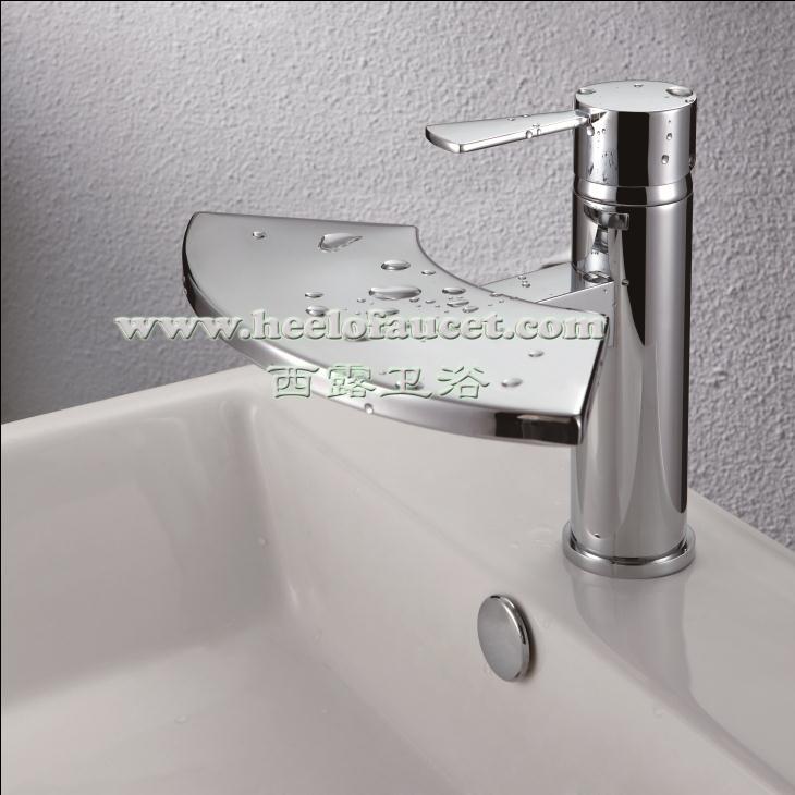 Bagno in ottone rubinetti miscelatore lavabo cascata rubinetto cascata miscelatore lavabo in - Rubinetti lavabo bagno ...