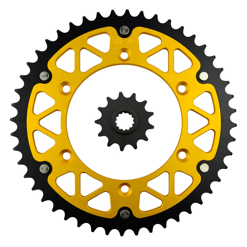 ФОТО Motorcycle Parts Front & Rear Sprockets Kit for SUZUKI DR350SE DR 350SE DR 350 SE 1996 1999 DR350 USA 1990-99 Gear Fit 520 Chain
