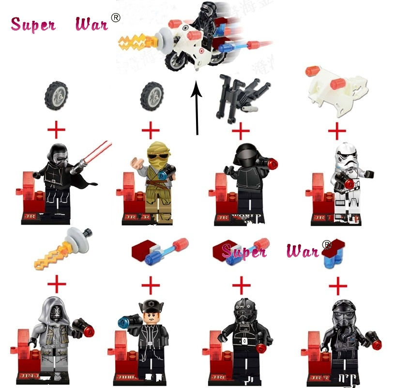 8pcs star wars super heroes marvel JR766 Kylo Ren General Grievous Series building block ...