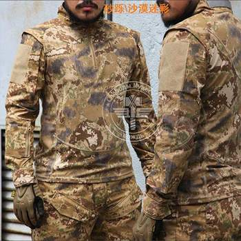 Hot Sale Camouflage Cotton Army Tactical Combat Long-Sleeved Shirts Military Camp For Man Whosale