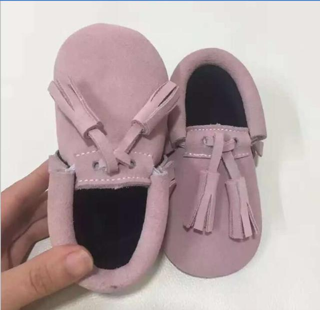 New design suede Genuine Leather Baby Moccasins Shoes tassel Baby girls boys Shoes Newborn first walker toddler baby Shoes