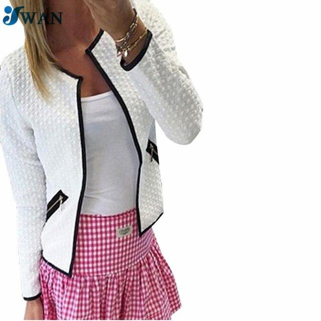 new style 6ae1d 91e8c US $23.11 |Blazer da donna Giacca Plaid Cappotti Giacche Corte Fashion  Casual Solid Suit Slim Giacca Cardigan Superiore Femminile Più Il Formato S  4XL ...