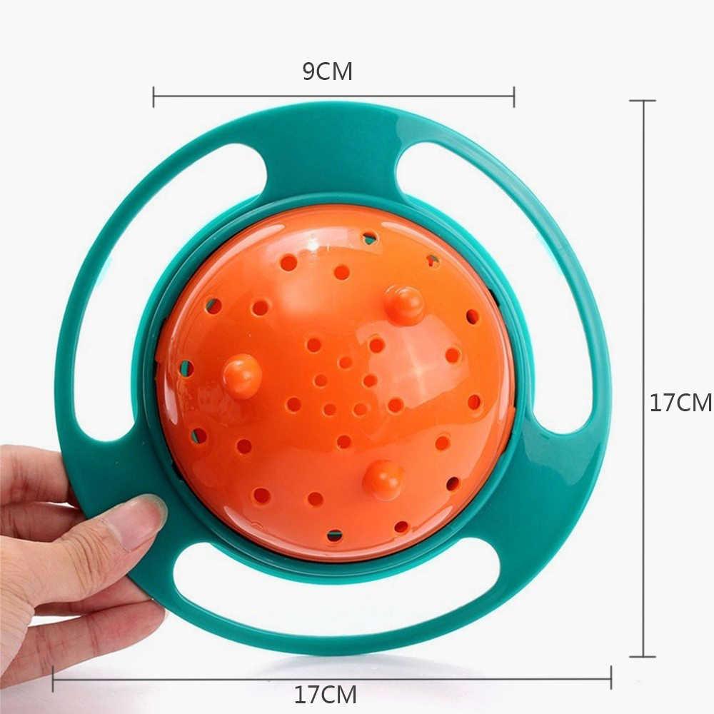 เด็กทารกกินการฝึกอบรมจาน UFO ชามเด็ก 360 หมุน - Proof Balance ชามให้อาหารทารกกินน่ารัก Gyro ทารกอาหารจาน