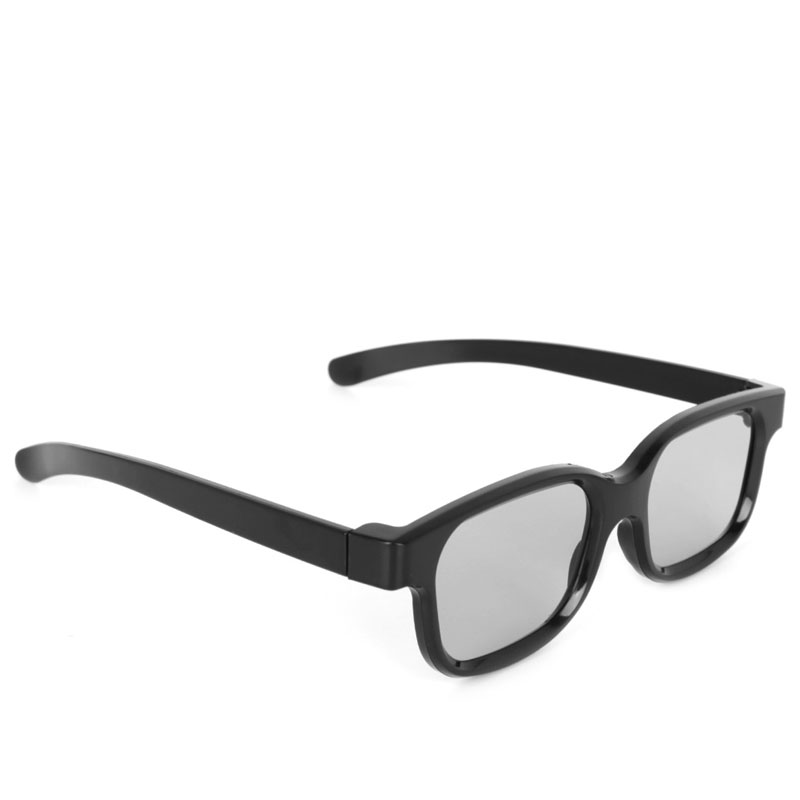 High Quality Polarized Passive 3D Glasses Black H3 For TV Real D 3D Cinemas