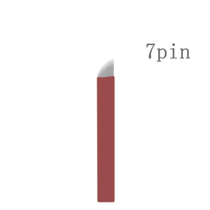 50pieces 7 Flex Laminas Tebori 7 pin Microblading Needles