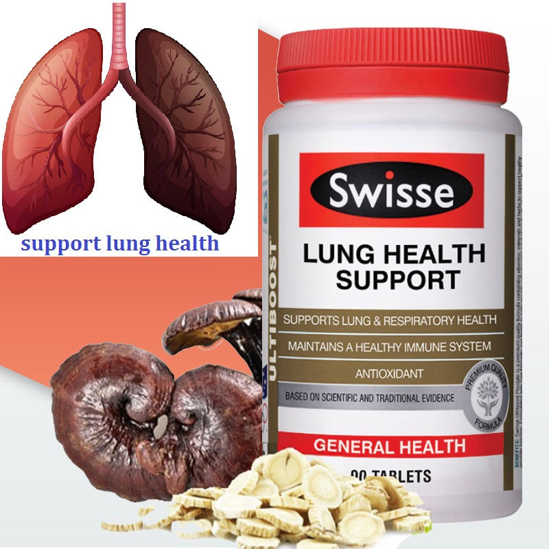 Australia Swisse Lung Respiratory Health 90 Tablets Antioxidant Support Healthy Immune System Expectorant Soothing