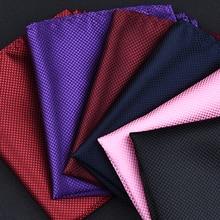 Высокая мода Карманный квадратный сетчатый платок Мужские аксессуары носовой платок из полиэстера однотонное полотенце mouchoir черный белый 22 см* 22 см