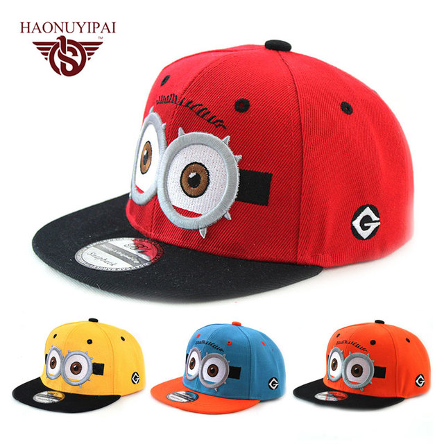 2016 New Cartoon Cute Baby Boy Girl Baseball Cap Kids Gorras Planas Hiphop  Hat Minions Children Summer Hats For Girls Outdoor c34ba2742d4