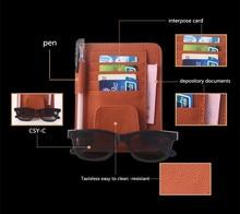 Buena calidad Auto Car Sun Visor Gafas Titular de la Tarjeta Bolsa bolsa De Almacenamiento Organizador Multi-Propósito Bolsa de Almacenamiento Organizador Del Coche coche Pocilga