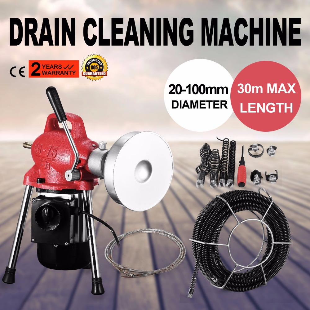 Discounts for 3/4 4Dia Sectional Pipe Drain Cleaner Cleaning Machine Electric Snake Sewer