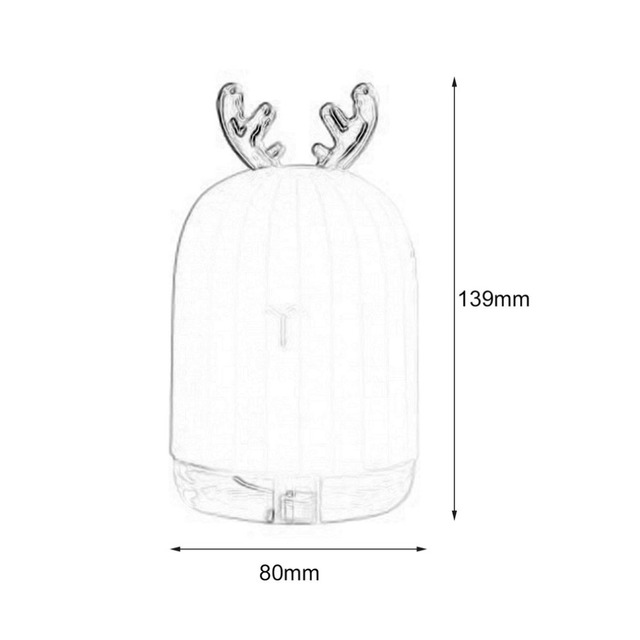 220ML Ultrasonic Air Humidifier Aroma Essential Oil Diffuser for Home Car USB Fogger Mist Maker with LED Night Lamp Humidifiers