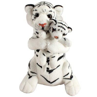 simulation animal white tiger large 48cm plush toy mother&baby tiger doll soft throw pillow Christmas gift b0147 hot 17cm janpanese animal plush toy alpaca vicugna pacos lama arpakasso alpacasso soft stuffed plush doll toy christmas gift