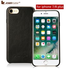 Jisoncase Genuine Leather Case for iPhone 7 Plus/8 Plus Luxury Leather Phone Cases Cover for iPhone 7/8 Plus 5.5 inch Ultra Slim