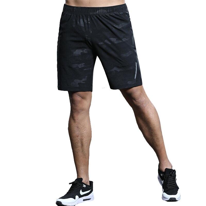 LANBAOSI Men Beach   Shorts   Pants Quick Dry Breathable Bodybuilding Pocket Waterproof Black Camo Men's Solid   Board     Shorts   F50