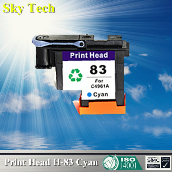 1 Cyan Ink cartridge Head For HP 83 Printhead , C4961A Remanufactured head For Hp DesignJet 5000 / Hp DesignJet 5500 for hdd for designjet 5500