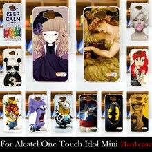 Alcatel One Touch Idol Mini OT6012A 6012W 6012X 6012D Hard Plastic Mobile Phone Cover Case DIY Color Paitn Cellphone Bag Shell