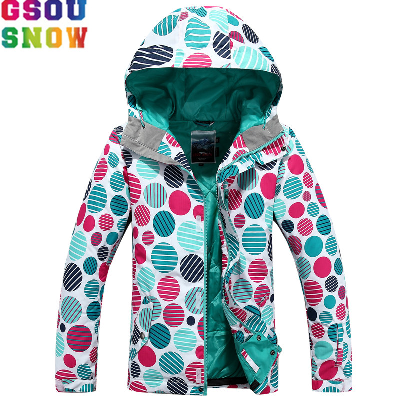 GSOU SNOW Brand Ski Jacket Women Waterproof Skiing Snowboarding Jacket Winter Cheap Outdoor Sports Coats Cross Country Skiing gsou snow waterproof ski jacket women snowboard jacket winter cheap ski suit outdoor skiing snowboarding camping sport clothing